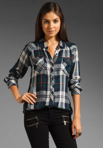 rails green plaid shirt