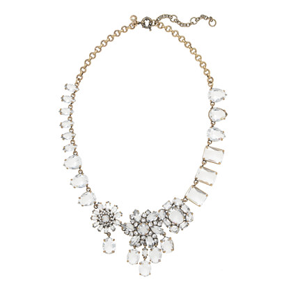 jcrew crystal collage necklace